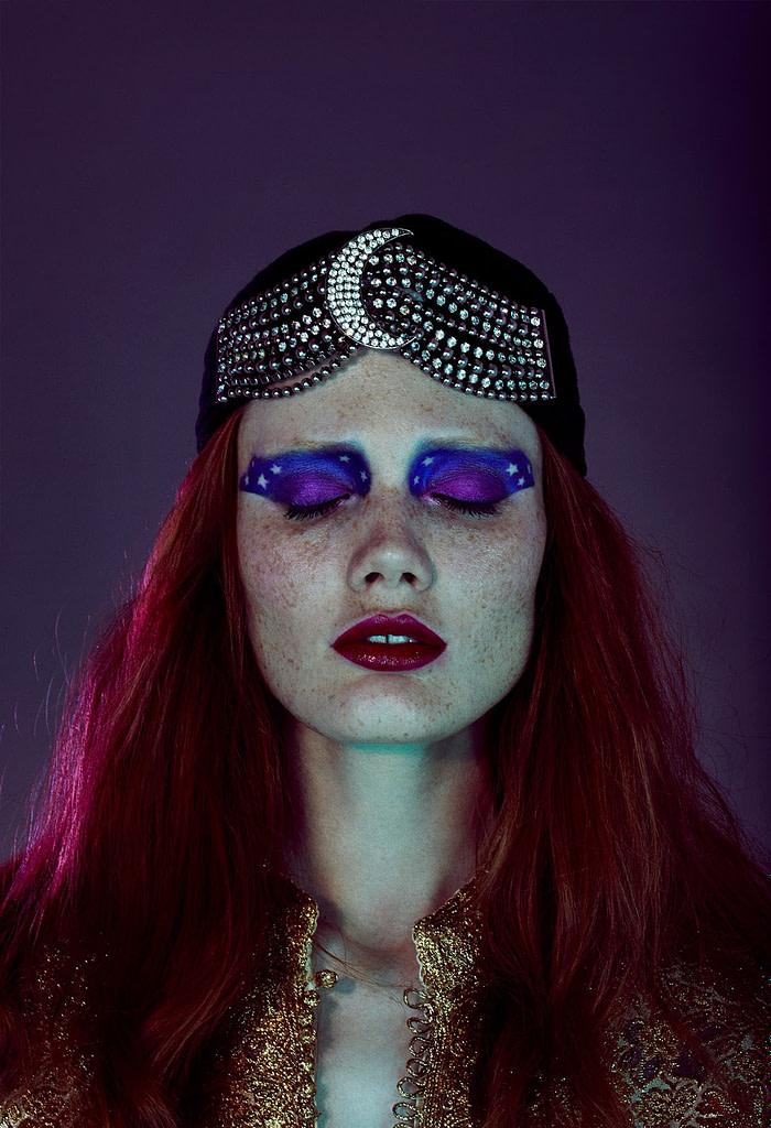 midnight star moon makeup beauty editorial sleep insomnia photoshoot 1