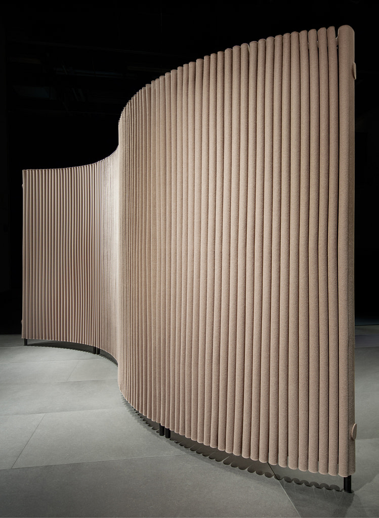 hey sign room divider wave corrugated cladding